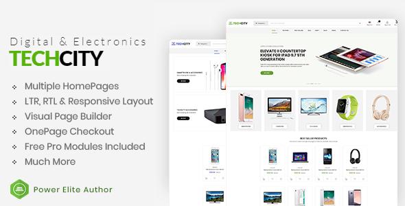 TechCity - The Premium Digital, SaaS, Apps & Electronics Opencart 3 Theme - OpenCart eCommerce