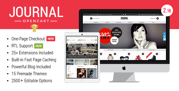 Journal Advanced Opencart Theme By Digitalatelier Themeforest