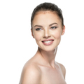 Portrait of beautiful young smiling woman with beauty face. - PhotoDune Item for Sale