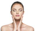 Front portrait of beautiful face with beautiful closed eyes - PhotoDune Item for Sale