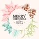 Vector Christmas Card with Holly and Pine Cones - GraphicRiver Item for Sale