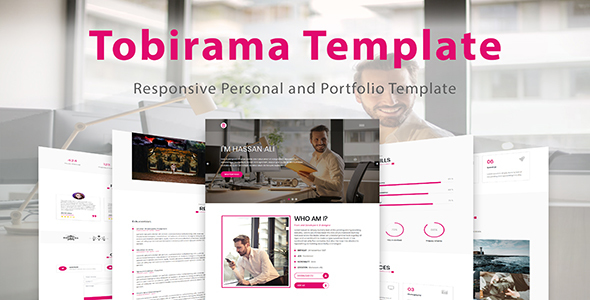 Tobirama - Responsive Personal and Portfolio Template Free Download | Nulled