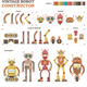 Vintage Robot Parts Vector Illustration Kit - GraphicRiver Item for Sale