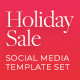 Holiday Sale Banners for Christmas, Halloween & New Year. Flexible Facebook Instagram & Pinterest Ad - GraphicRiver Item for Sale