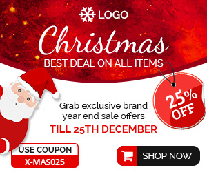 b4a0433354 Shopping & E-commerce | Christmas Sale Banner (SE008) by adanimate