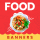 Food Web Banner Set - GraphicRiver Item for Sale