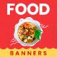 Food Web Banner Set - GraphicRiver Item for Sale