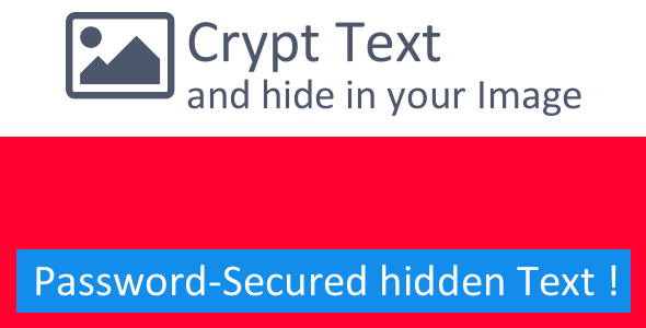 Text Crypto - Hide Text inside Image - CodeCanyon Item for Sale