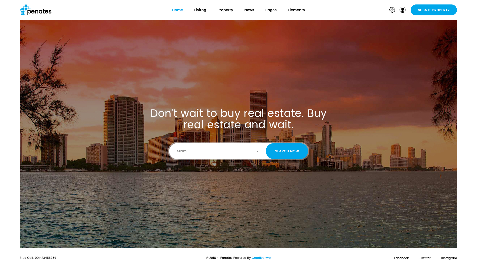Penates Premium Real Estates Psd Template By Creative Wp Themeforest