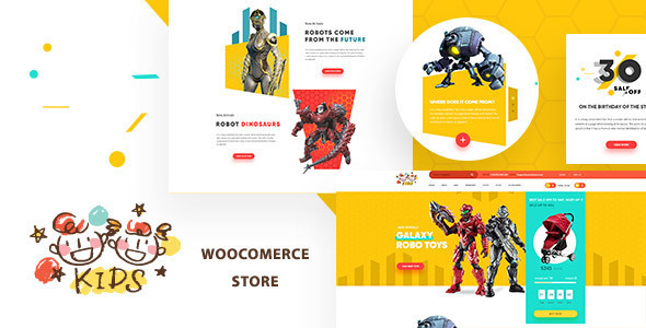 Kids - Baby Shop & Kids Store WooCommerce Theme - Children Retail