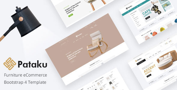 Pataku - Furniture eCommerce Bootstrap 4 Template Free Download | Nulled