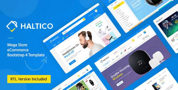 Haltico - Mega Store eCommerce Bootstrap 4 Template + RTL