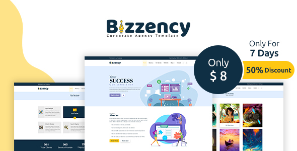 Bizzency - Corporate/Agency HTML Template Free Download   Nulled