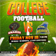 College Football Square Web Flyer Template - GraphicRiver Item for Sale