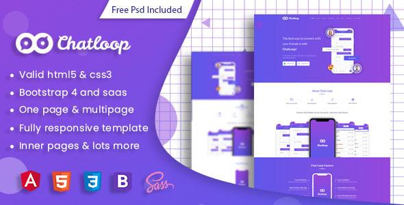 Chatloop - Angular 7 App Landing Page Free Download   Nulled