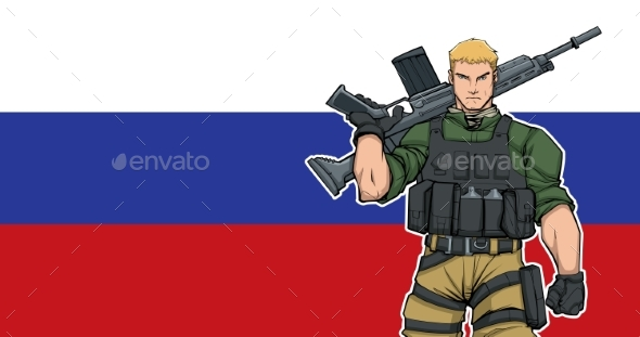 Russian Soldier Background - People Characters