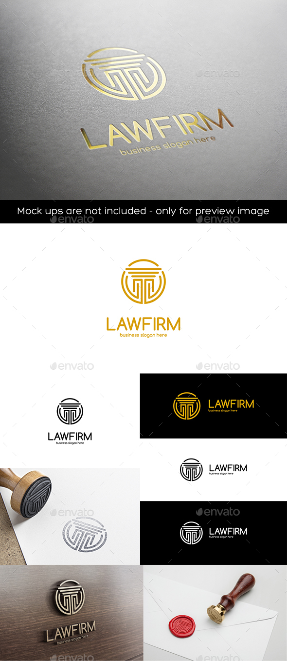 Law Firm Pillar Column Vector Logo - Symbols Logo Templates