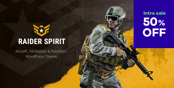 Raider Spirit | Airsoft Club & Paintball WordPress Theme Free Download | Nulled