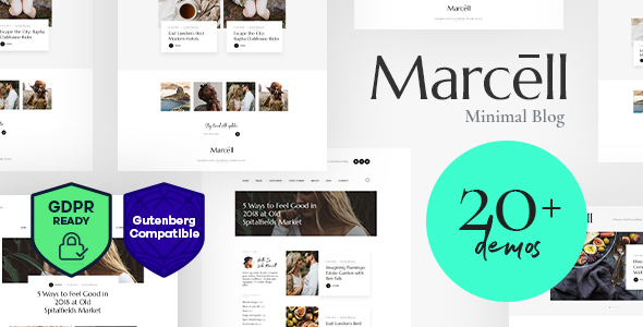 Marcell | 20+ Layouts Multi-Concept Personal Blog & Magazine WordPress Theme - Blog / Magazine WordPress
