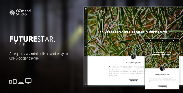 FutureStar: A Minimalistic & Creative Theme for Personal Blogging - Blogger Blogging