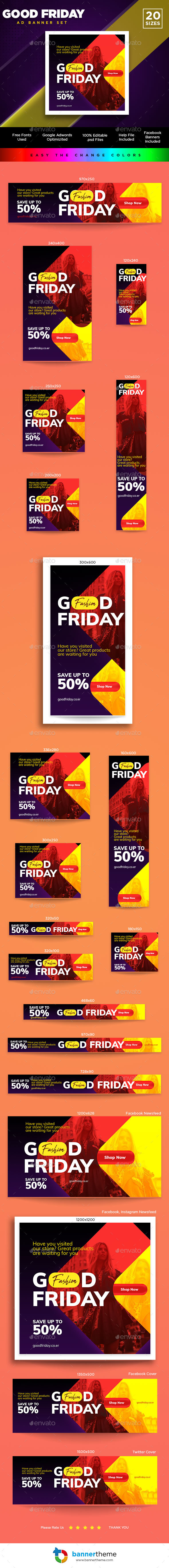 Good Friday Banner - Banners & Ads Web Elements