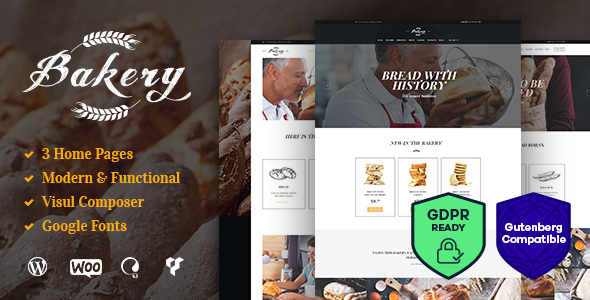 Bakery, Cafe & Pastry Shop WordPress Theme