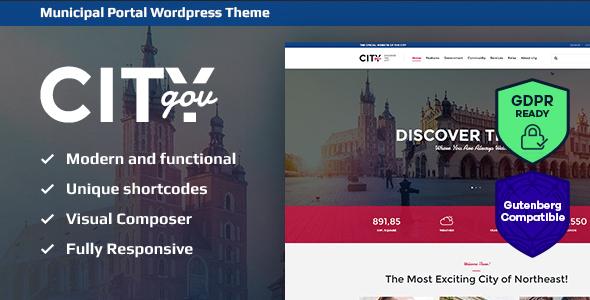 City Government & Municipal Portal WordPress Theme