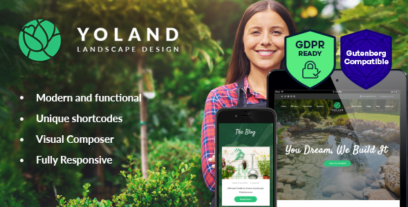 Yoland | Landscape Design & Garden Accesories Store WordPress Theme
