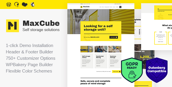 MaxCube | Self Storage Business WordPress Theme