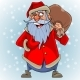 Cartoon Talking Santa Claus with a Bag - GraphicRiver Item for Sale