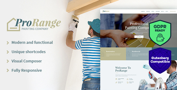 ProRange | Painting Company WordPress Theme - Business Corporate