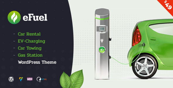 Efuel - Car Rental, EV Charging, Car Towing and Gas Station WordPress Theme - Business Corporate