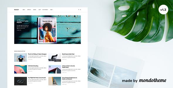 Magsy - Modular Magazine & Blog Theme - News / Editorial Blog / Magazine