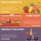 Local Farmer Market Products, Delivery Posters - GraphicRiver Item for Sale