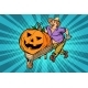 Halloween Pumpkin Farmer - GraphicRiver Item for Sale