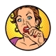 Woman Picking Nose - GraphicRiver Item for Sale