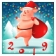Pig in Santa Claus Costume Chinese New Year - GraphicRiver Item for Sale