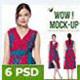 Wrap Dress Mock-up #1 - GraphicRiver Item for Sale