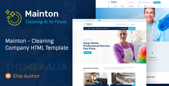 Mainton - Cleaning Company HTML Template Free Download | Nulled