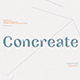 Concreate - display font - GraphicRiver Item for Sale