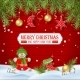 Christmas Background with Ornaments - GraphicRiver Item for Sale