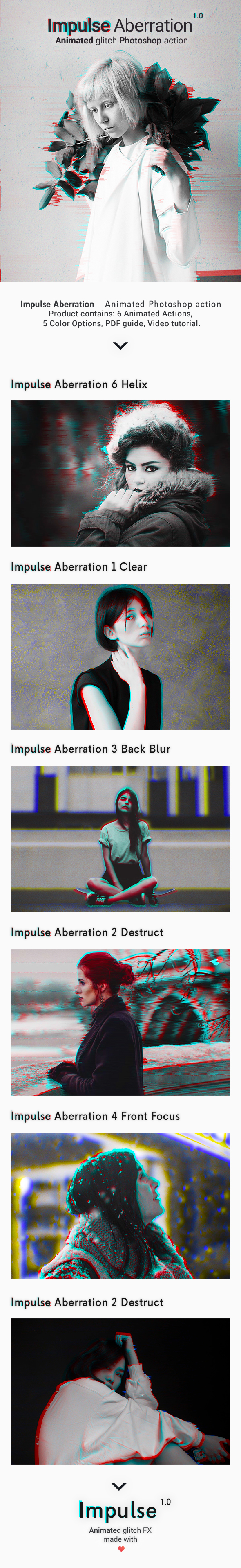 Animated Glitch - Impulse Aberration - Photo Effects Actions