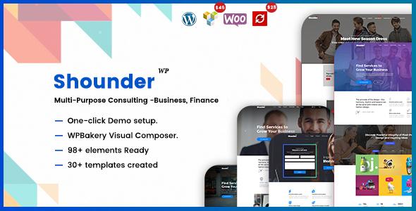 Shounder - Multi-Purpose Consulting Business WordPress Theme