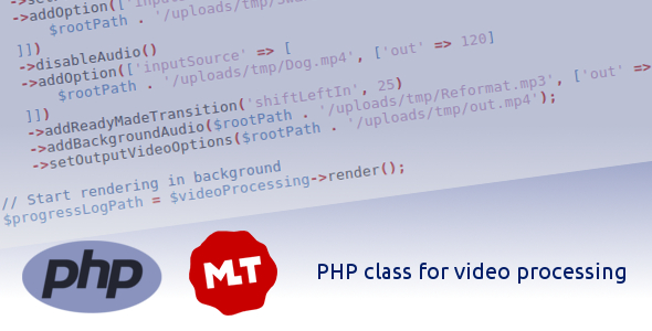 PHP Class for video processing