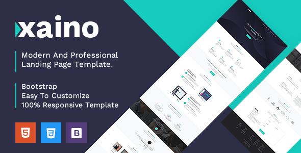 Xaino - Responsive Bootstrap 4 Landing Template by SaptaVarana