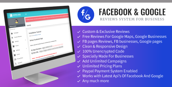 Facebook And Google Reviews System For Businesses - CodeCanyon Item for Sale