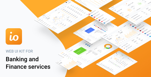 IOFinance - UI Kit for Finance, Banking and Wallet Websites - Sketch Templates