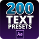 Text Preset Pack for Aftereffects