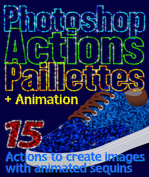 Paillettes Sequins Photoshop Actions