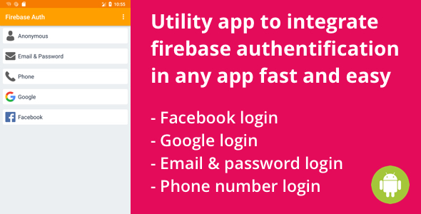 Firebase - Login and Register with Email, Facebook and Google Android - CodeCanyon Item for Sale